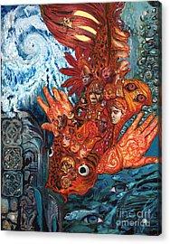 Humanity Fish Acrylic Print