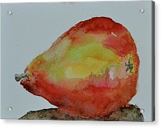 Acrylic Print featuring the painting Humble Pear by Beverley Harper Tinsley