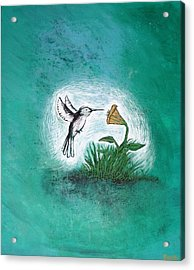 Acrylic Print featuring the painting Hummingbird by Antonio Romero