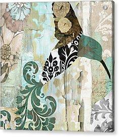 Hummingbird Batik II Acrylic Print