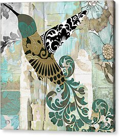 Hummingbird Batik Acrylic Print by Mindy Sommers