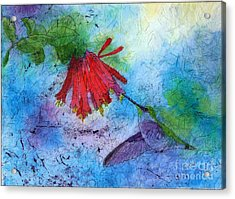 Hummingbird Batik Watercolor Acrylic Print