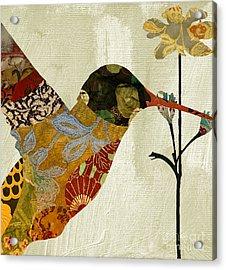 Hummingbird Brocade IIi Acrylic Print by Mindy Sommers