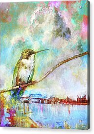 Hummingbird By The Chattanooga Riverfront Acrylic Print