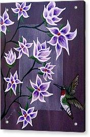 Hummingbird Delight Acrylic Print by Teresa Wing
