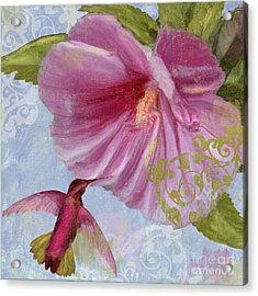 Hummingbird Hibiscus I Acrylic Print