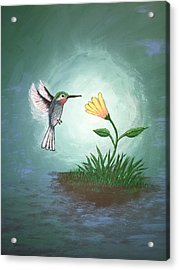 Acrylic Print featuring the painting Hummingbird II by Antonio Romero