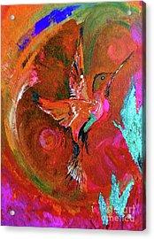Hummingbird Acrylic Print by Lisa Kaiser