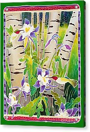 Hummingbirds In The Aspen Acrylic Print by Harriet Peck Taylor