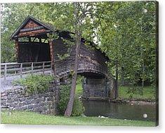 Humpback Covered Bridge In Covington Virginia Acrylic Print by Brendan Reals