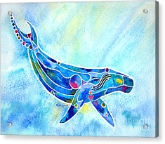 Acrylic Print featuring the painting Humpback Whale Blues by Jo Lynch