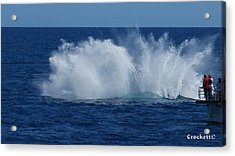 Humpback Whale Breaching Close To Boat 23 Image 3 Of 4 Acrylic Print