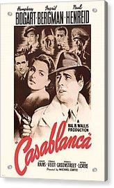 Humphrey Bogard And Ingrid Bergman In Casablanca 1942 Acrylic Print