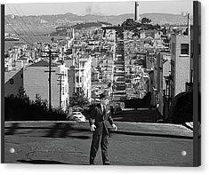 Humphrey Bogart Film Noir Dark Passage Telegraph Hill And Coit Tower San Francisco 1947 Acrylic Print