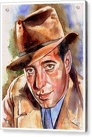 Humphrey Bogart Portrait Acrylic Print