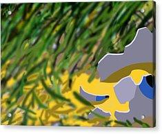 Acrylic Print featuring the digital art Humpty by Tom Dickson