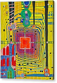 Hundertwassers Close Up Of Infinity Tagores Sun Acrylic Print