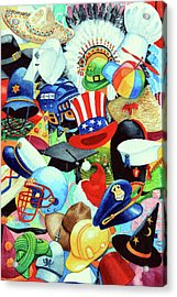 Hundreds Of Hats Acrylic Print by Hanne Lore Koehler