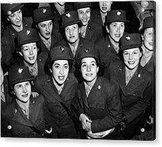 Hundreds Of Women From The Womens Acrylic Print