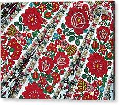 Hungarian Beaded Emboidery From Kalotaszeg Photograph Print Acrylic Print