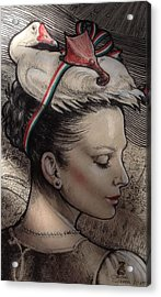 Hungarian Goose Acrylic Print by Ottilia Zakany