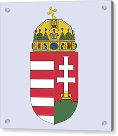 Acrylic Print featuring the drawing Hungary Coat Of Arms by Movie Poster Prints