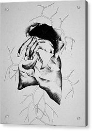 Hunger Acrylic Print by Omphemetse Olesitse
