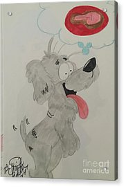 Hungry Dog Acrylic Print
