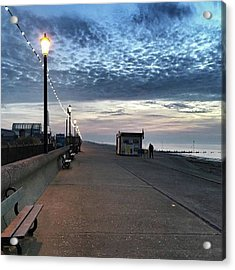 Hunstanton At 5pm Today  #sea #beach Acrylic Print by John Edwards