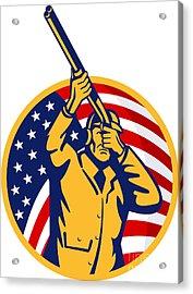Hunter American Flag Acrylic Print by Aloysius Patrimonio