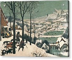 Hunters In The Snow Acrylic Print by Pieter the Elder Bruegel