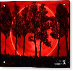 Acrylic Print featuring the painting Hunters Moon by Lori Jacobus-Crawford