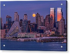 Hunter's Moon Over Ny Acrylic Print