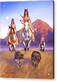 Hunters Of The Full Moon Acrylic Print