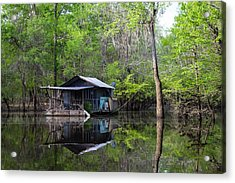 Hunting And Fishing Cabin Acrylic Print