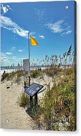 Huntington Beach Breezes Acrylic Print by Jeff McJunkin
