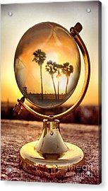Huntington Beach Globe Acrylic Print