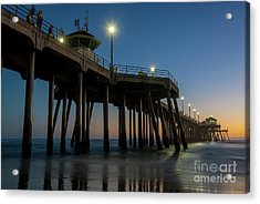 Huntington Beach Pier At Dusk Acrylic Print