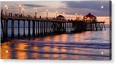 Huntington Beach Pier Acrylic Print by Charlie Hunt