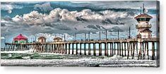 Acrylic Print featuring the photograph Huntington Beach Winter 2017 by Jim Carrell