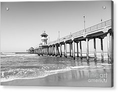Huntington Pier In Huntington Beach Ca Acrylic Print by Paul Velgos