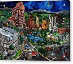 Huntsville Skyline Acrylic Print by Carole Foret