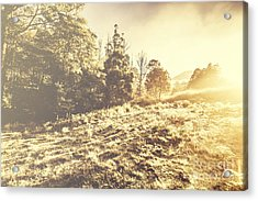 Huon Valley Vintage Landscape Acrylic Print