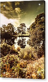 Huonville River Reflections Acrylic Print by Jorgo Photography - Wall Art Gallery