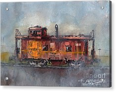 Hurlwood Caboose Acrylic Print by Tim Oliver