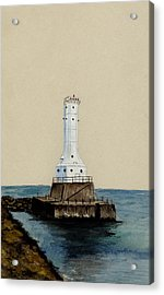 Huron Harbor Lighthouse Acrylic Print by Michael Vigliotti