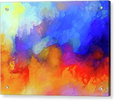 Hurricane Abstract Acrylic Print