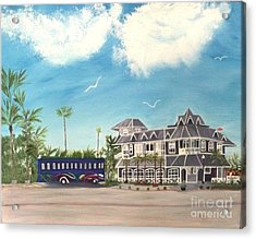 Hurricane Restaurant Pass A Grill Florida Acrylic Print by Peggy Holcroft