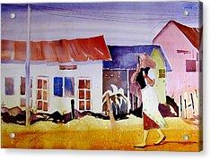 Hurrying In Tanzania Acrylic Print
