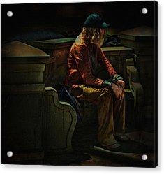 Hurting Inside No One To Talk To .... Acrylic Print by Bob Kramer